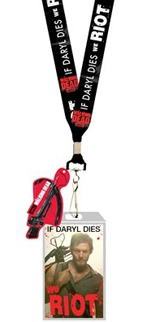 Walking Dead If Daryl Dies We Riot Lanyard with Charm