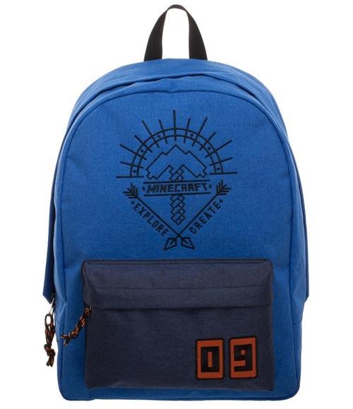 Minecraft Explore Create Blue Backpack