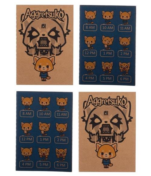 Aggretsuko 4-Set Pocket Journals