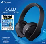 PlayStation 4 Gold Wireless Headset with Fortnite