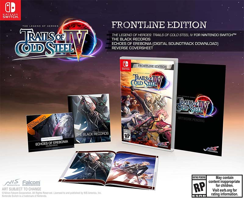 Switch Legend of Heroes Trails of Cold Steel IV Frontline Edition all items