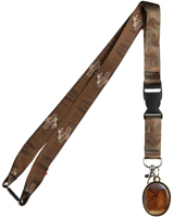 Jurassic Park Lanyard with Amber Mosquito Metal Charm