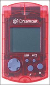 Dreamcast VMU Clear Red by Sega