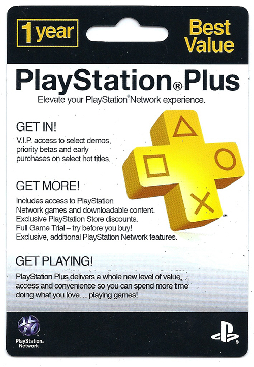 PlayStation Plus 12 Month Subscription Card