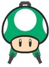 Nintendo 1-Up Green Mushroom Backpack