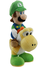 Super Mario Bros Luigi Riding Yoshi 8