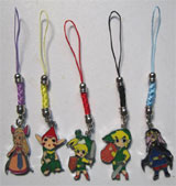 Legend of Zelda Minish Cap 5 Phone Charms Set