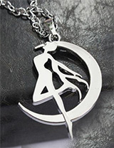 Sailor Moon Tsukino Usagi Silver Necklace