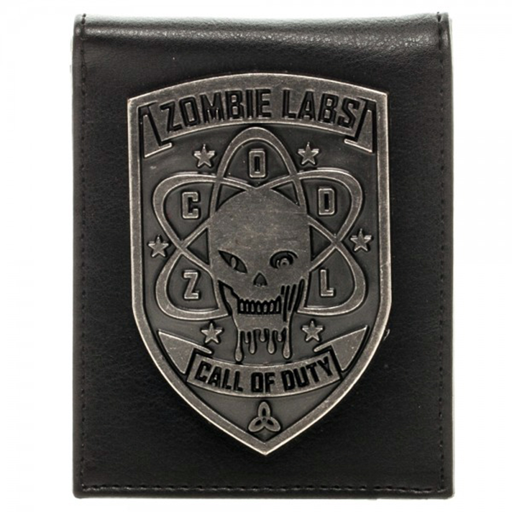 Call of Duty Zombie Lab Metal Badge Bi-Fold Wallet