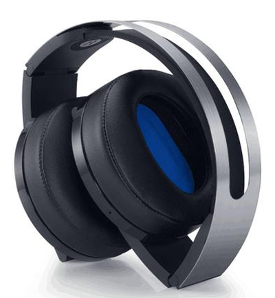 The PlayStation 4 Platinum Wireless Headset features a convenient folding design for incredible portability!