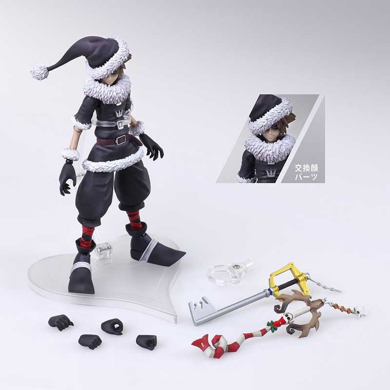 Kingdom Hearts 2 Bring Arts Sora action figure Christmas Town additional accessories
