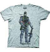 Metal Gear Solid: Peace Walker Naked Snake Grey T-Shirt XXL