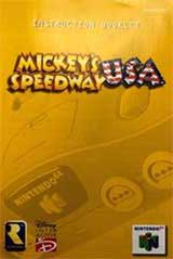 Mickey's Speedway Racing USA (Instruction Manual)