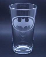 Arts & Crafts: Batman Logo Custom-made 16oz Glass