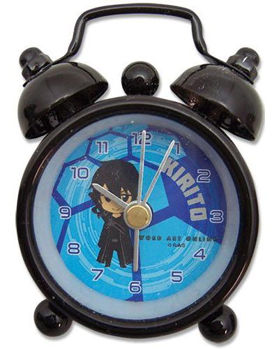 Sword Art Online Kirito Round Desk Clock