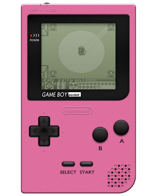 Nintendo Game Boy Pocket System Pink