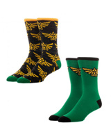 Legend of Zelda 2 Pack Crew Socks
