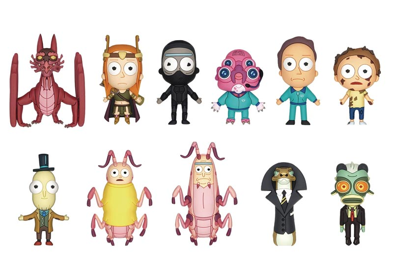 Rick and Morty Series 4 3D Foam Bag Clips BMB all characters