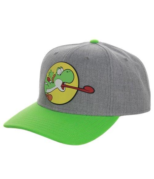 Super Mario Yoshi Pre-Curved Snapback Hat