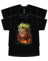 Trigun Cover Black T-Shirt LG