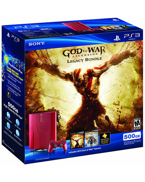 Sony PlayStation 3 Super Slim 500GB God of War Ascension Legacy Bundle