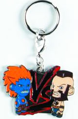 Street Fighter Blue Blanka vs Zangief Enamel Keychain
