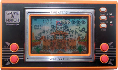 Game & Watch Wide Screen Series: Fire Attack