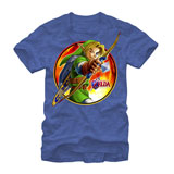 Legend of Zelda Archer Link Royal Blue T-Shirt Medium