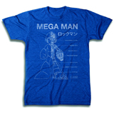Mega Man Blueprint PX Royal Heather Blue T/S XL