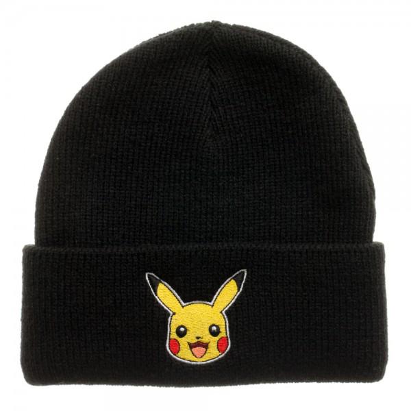 Pokemon Pikachu Black Single Layer Cuff Beanie