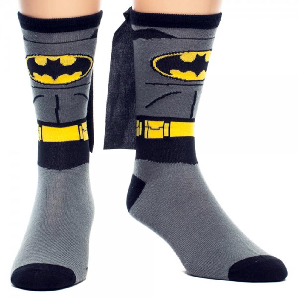 Batman Suit Up Crew Sock with Cape