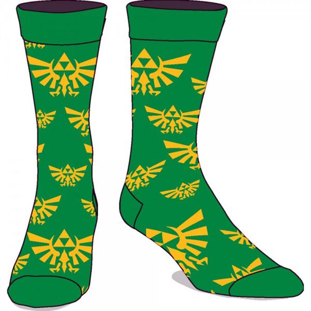 Legend of Zelda Green Crew Socks