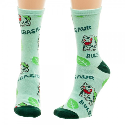 Pokemon Bulbasaur Jrs. All Over Print Crew Socks