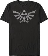 Legend of Zelda Symbolled Crest Black T/S MED