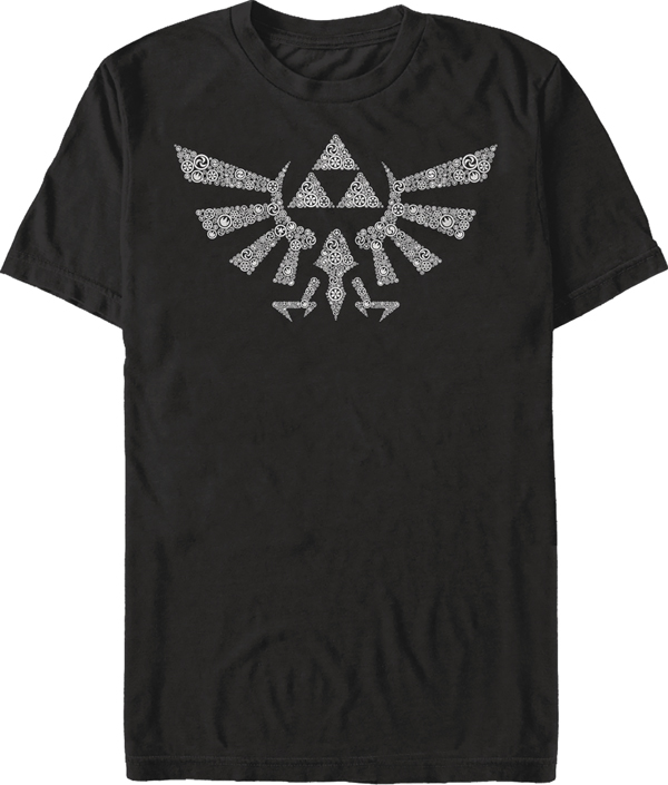 Legend of Zelda Symbolled Crest Black T/S MED