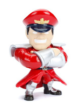 Street Fighter Metals M Bison Die-Cast 4 Inch Figure
