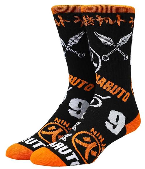 Naruto Shippuden Icons Crew Socks