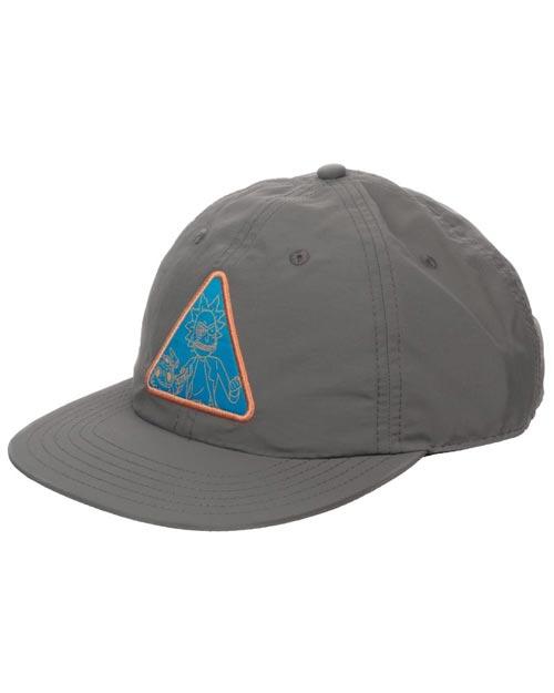 Rick & Morty Triangle Patch Gray Snapback Hat
