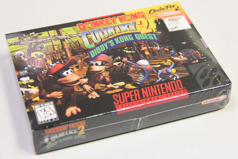 A brand new SNES Donkey Kong Country 2 is  available for sale