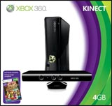 Microsoft Xbox 360 Slim 4GB Console with Kinect