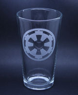 Arts & Crafts: Star Wars Imperial Logo Custom-made 16oz Glass