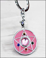 Sailor Moon Pink Crystal Star Keychain