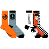 Dragon Ball Z Goku and Capsule Corp Unisex Crew Socks 2 Pack