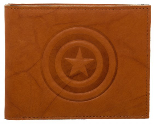 Marvel Captain America Leather Bi-Fold Wallet