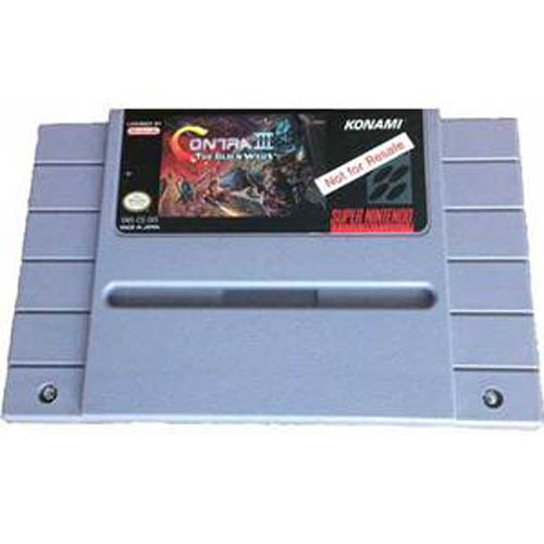Contra 3: The Alien Wars - Not For Resale Version