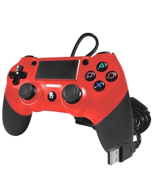 PlayStation 4 Champion Wired USB Controller Red by TTX