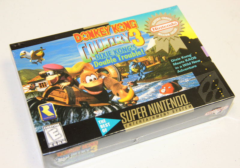 A brand new SNES Donkey Kong Country 3 is  available for sale
