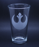 Arts & Crafts: Star Wars Rebel Logo Custom-made 16oz Glass
