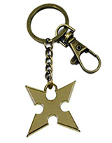 Kingdom Hearts: Roxas Cross Bronze Keychain