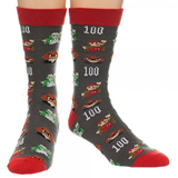 Super Mario 8-bit All Over Print Crew Socks